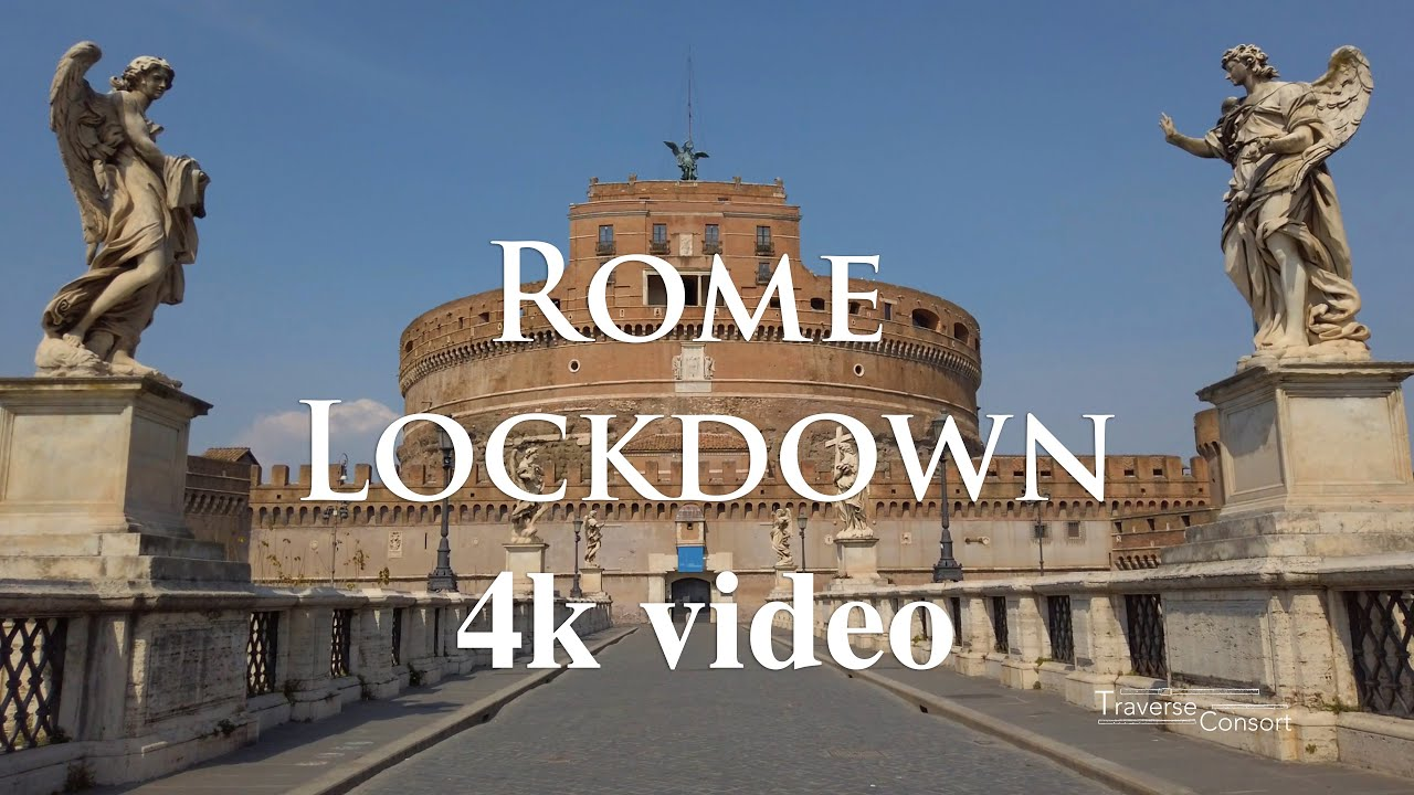 Rome lockdown - 4k video con musica del Traverse Consort