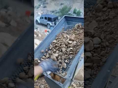 Part 1 Gold prospecting Osceola Nevada two buckets through the Keen drywasher