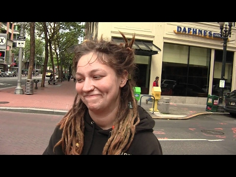 Carol Ann is a homeless youth traveler in Portland