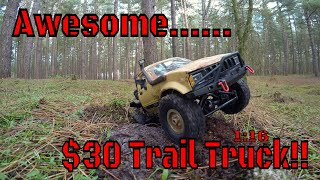 The Best $30 1:16 Trail truck you'll find today! WPL C14 from Banggood
