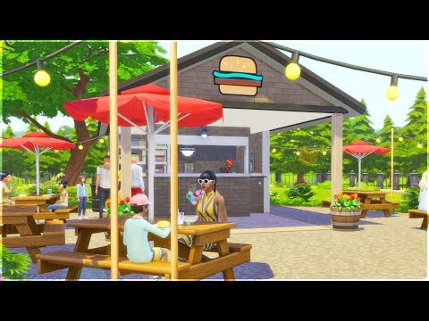 Starter Burger Stand - The Sims 4 Speed Build - 동영상