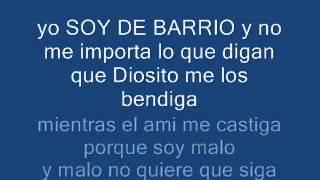Soy De Barrio Adan Zapata Con Letra (HD)