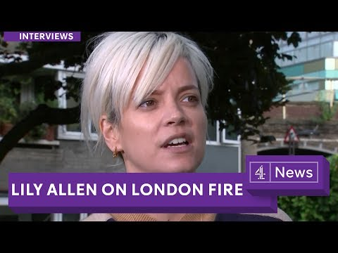 Lily Allen: 'Hope will turn to anger' following London Tower fire