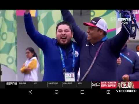 TIRO CON ARCO JUEGOS PANAMERICANOS MEDALLA DE ORO PARA ROBERTO HERNANDEZ DE EL SALVADOR