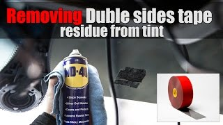 Removing Double Sided tape residue from tint