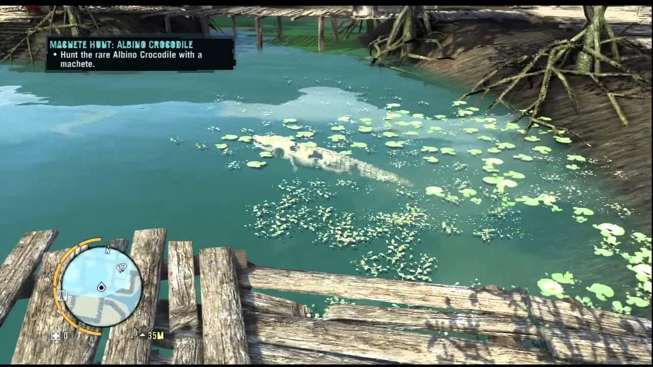 Far Cry 3 Rare Animal - Albino Crocodile Location - YouTube