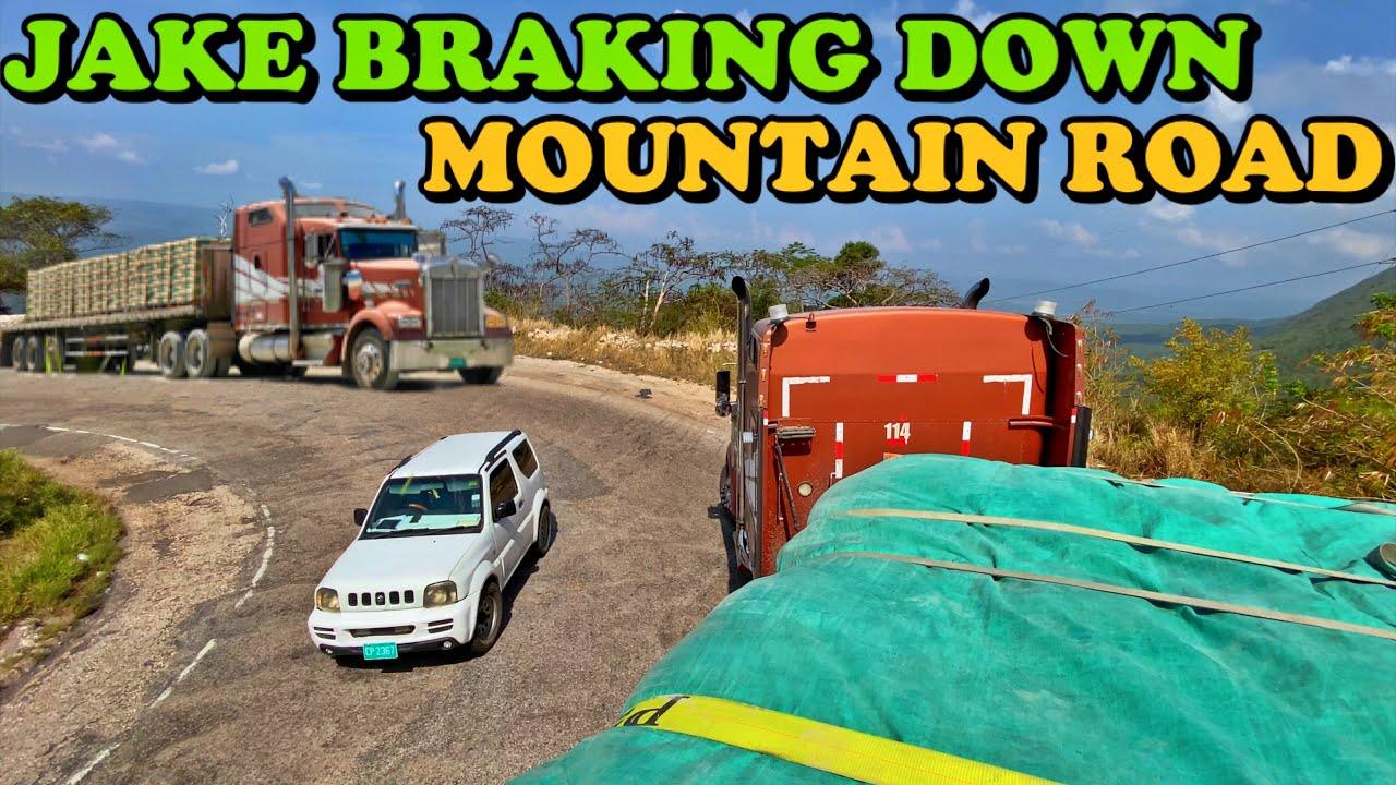 Jake Brake Echoing Down Mountain Road - 42.5T of Cement