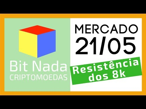 Mercado de Cripto! 21/05 A forte resistência dos 8k / ETF / HODL