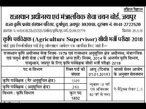 Agriculture 2018 exam date