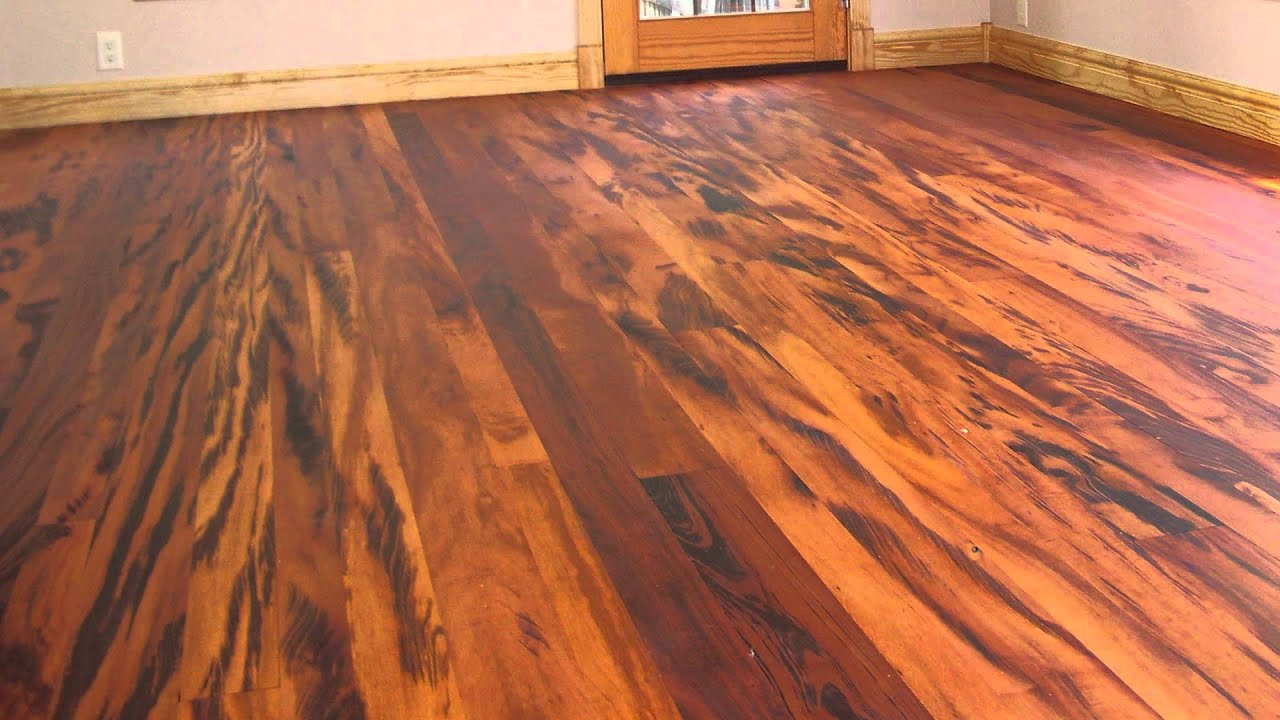 Tiger wood hardwood flooring youtube for Hardwood flooring