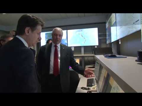 La visita di Conte alla sede operativa del Dpc – Benemerenze di protezione civile