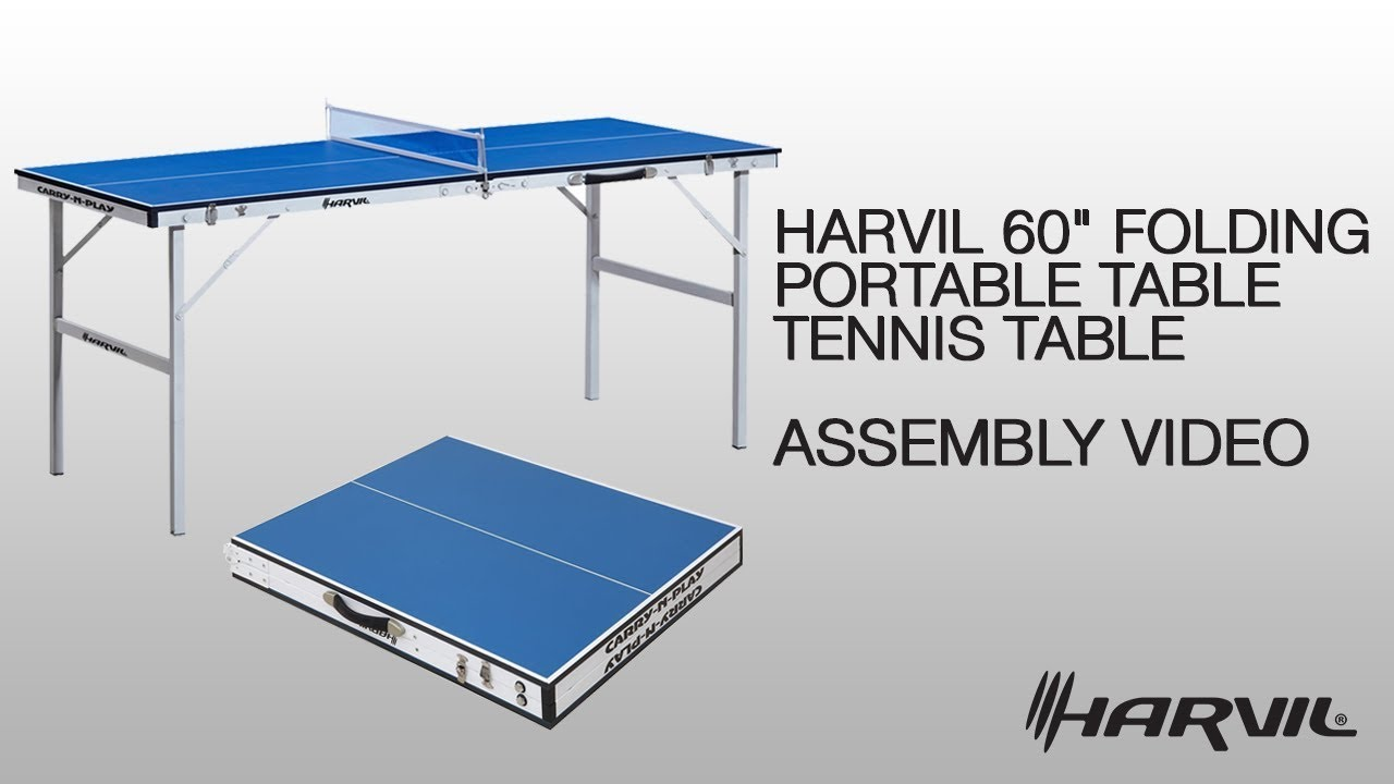 Awesome Assembly Video | Harvil 60 Folding Portable Table Tennis Table (49052) |  Dazadi.com