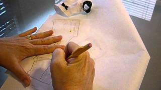 How to Trace Pattern for BFC, INK Doll Blouse Pt. 1