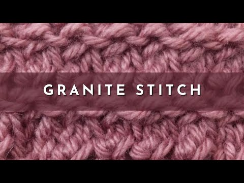 How to Knit the Granite Stitch (English Style) - YouTube