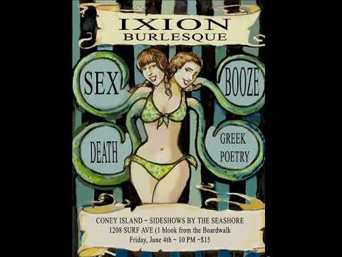 Ixion Burlesque * Lex Grey * I Cover the Waterfront * Poster by Molly Crabapple