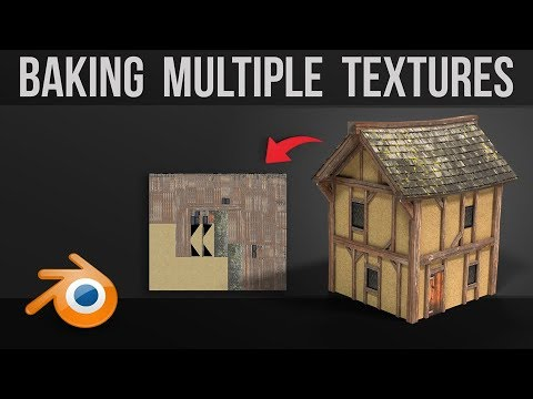 Baking Multiple Textures Onto One Map | No Plugins