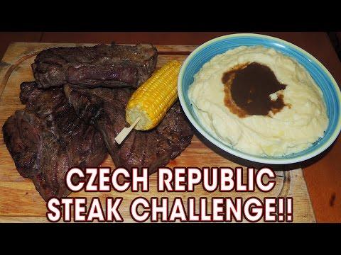 Big Texan 72oz Steak Challenge in Czech Republic!!