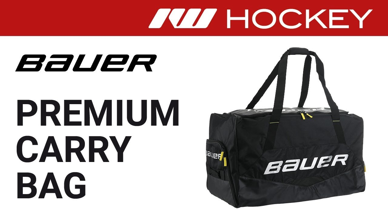 Black Bauer Hockey Elite Wheeled Hockey Bag