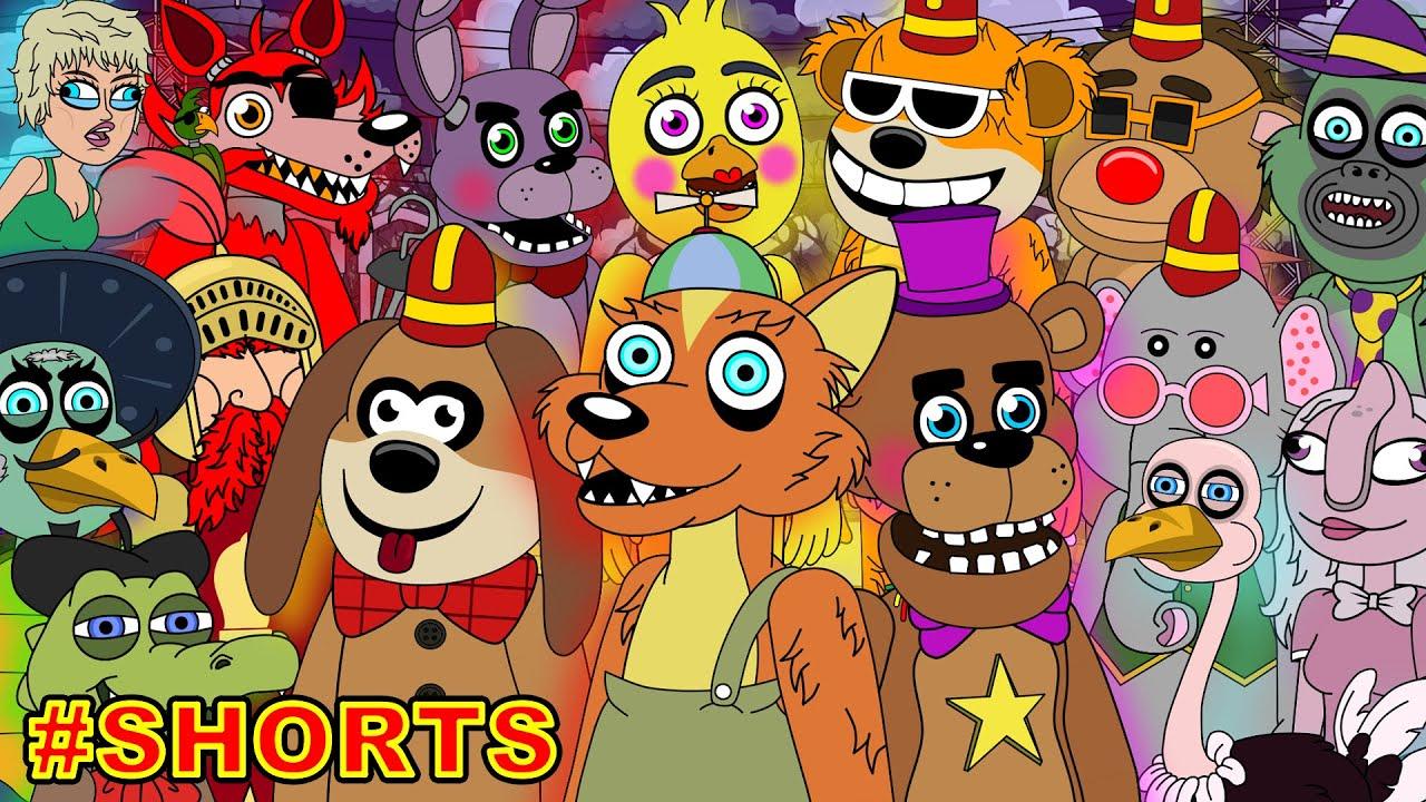 Five Nights at Freddy's vs The Banana Splits vs Willy's Wonderland #shorts