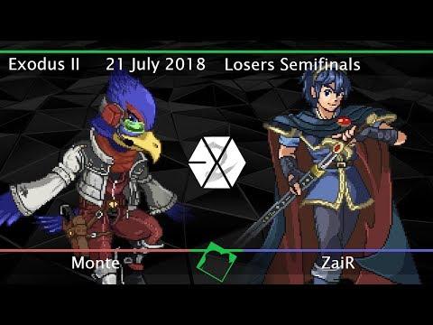 Exodus II - Monte (Marth, Falco) vs ZaiR (Marth) - SSF2 Beta Losers Semifinals