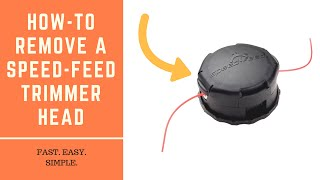 How Remove And Replace Feed Trimmer Head Echo Head