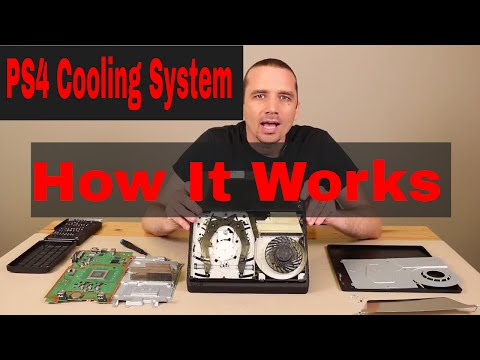 PS4 Cooling System - How It Works - See it Working