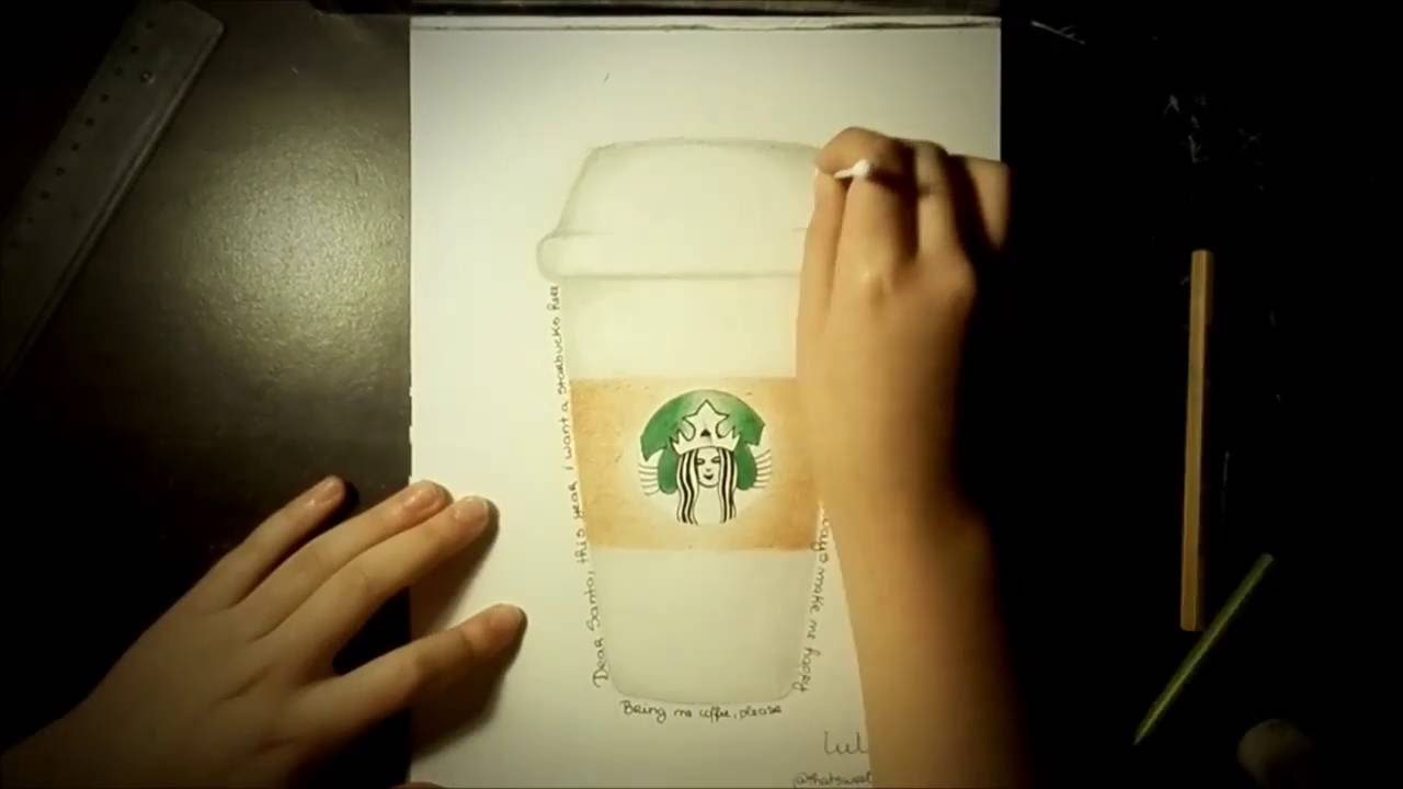 Starbucks Cup Drawing Challenge - Time Lapse - YouTube