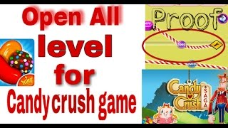 How to unlock all level for Candy crush game (No root) simple trick