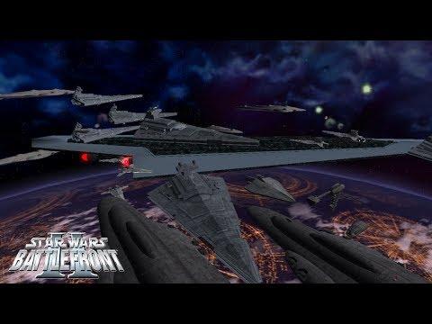Star Wars Battlefront 2 Mods: HUGE SPACE BATTLE - Space Coruscant | Ansem Darkseeker Map Pack