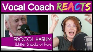 Vocal Coach reacts to Procol Harum - A Whiter Shade of Pale (Gary Brooker Live)