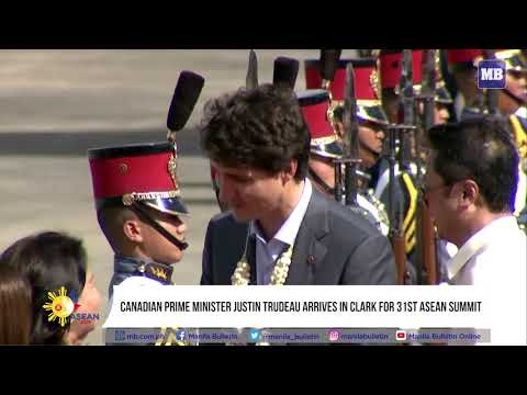 Canadian Prime Minister Justin Trudeau arrives in Clark for 31st ASEAN Summit