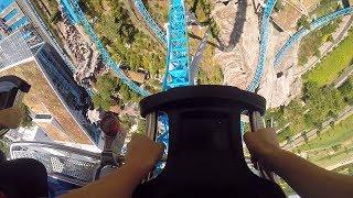 Blue Fire Megacoaster Europa-Park 2014 Front Row GoPro Hero 3