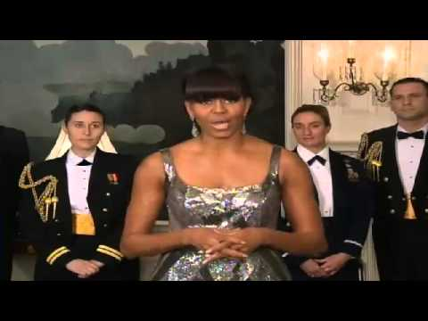Michelle Obama INTRODUCES OSCAR For Best Picture 2013 Oscar Academy Awards