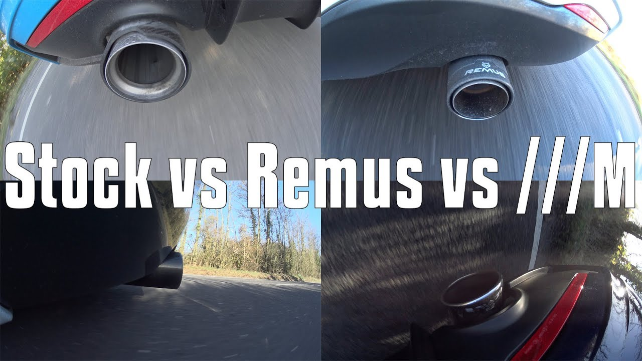 BMW x40i B58 Exhaust Sound Compilation - Stock vs Remus vs Remus vs M  Performance (140i 240i 440i)