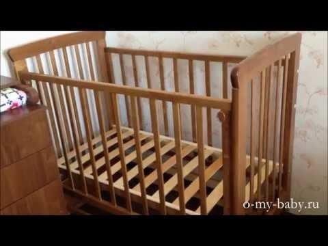 Обзор детской кроватки «Марина