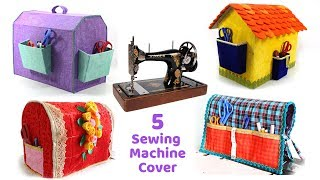 5 HOMEMADE SEWING MACHINE COVERS from OLD MATERIALS
