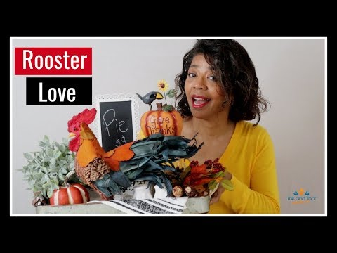 Fall Kitchen Vignette 2019 with Denise Jordan | Rooster Kitchen Decorating Ideas