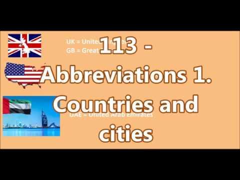 113 - Abbreviations 1. ( Rövidítések ) Countries And Cities- Kaizen Angol - Ingyenes Nyelvleckék