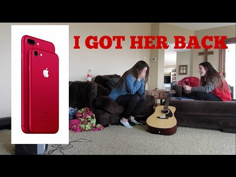 BOUGHT NEW RED IPHONE 7  W HER MONEY  PRANK