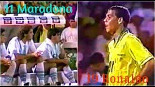 Debuta Ronaldo y ¡Maradona es suplente con la 11! (ARG vs BRA)