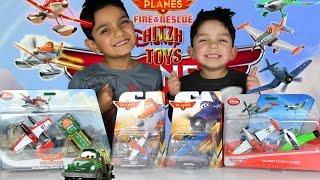 Disney Planes: Fire Fighter Dusty, Chug, Pontoon Dusty, Super Dusty, Zed, Skipper