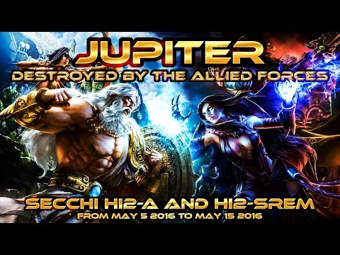 JUPITER destroyed by the MOB -Allied Forces- SECCHI HI2 Cam May 2016