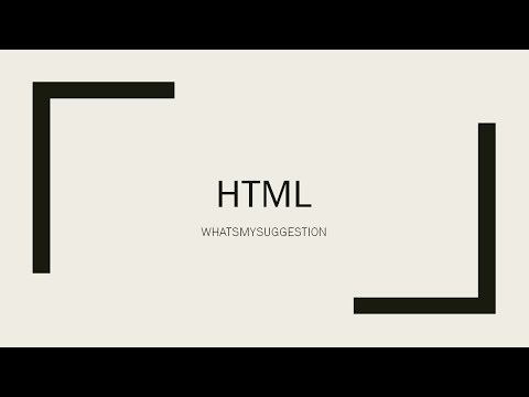 Complete Reference Of HTML PART 1