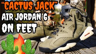 WORTH THE HYPE!? TRAVIS SCOTT CACTUS JACK AIR JORDAN 6 ON FEET REVIEW! EVERYTHING YOU NEED TO KNOW!