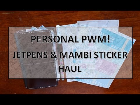 Personal Plan With Me + JetPens & MAMBI Stickers Haul || Traveler's Notebook