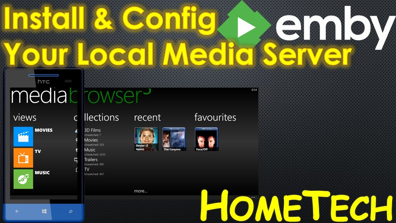 How to Install and Config Emby Server Media Browser | Movies streaming &  sharing server
