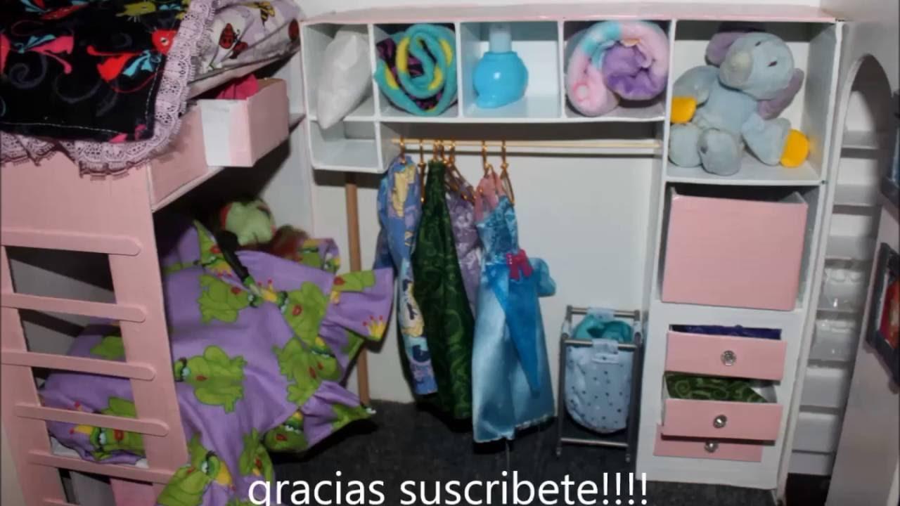 HOW TO Easy DIY DOLL HOUSE Bedroom Furniture CASA DE MUNECAS