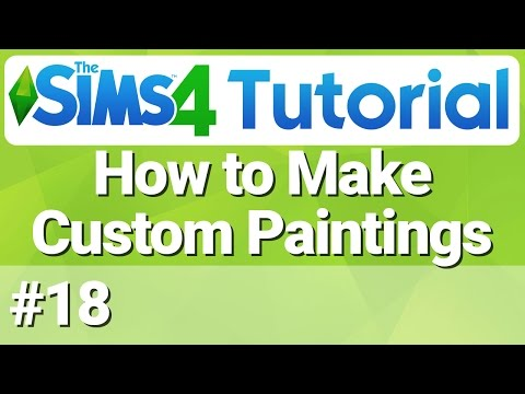 The Sims 4 - How to Make Custom Paintings