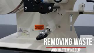 Removing waste rewind clip