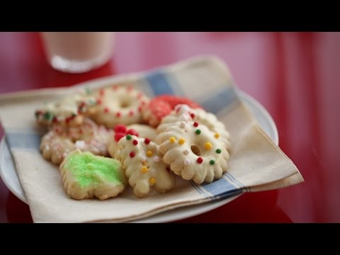 Holiday Glazed Spritz Cookies - Everyday Food with Sarah Carey